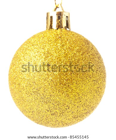 golden ball isolated on a white background - stock photo