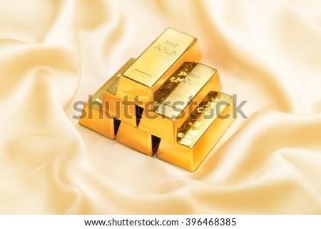 Golden bars - stock photo