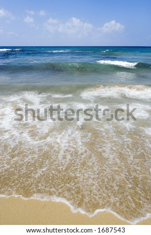 Golden Bay in Malta - stock photo