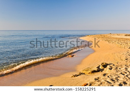 Golden beach in Salento. Apulia. Italy - stock photo