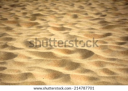 golden beach sand texture background - stock photo