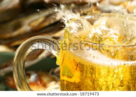 golden beer - stock photo