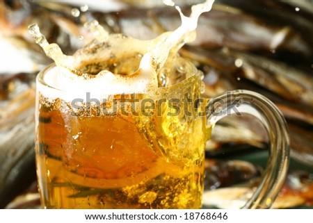 golden beer - stock photo