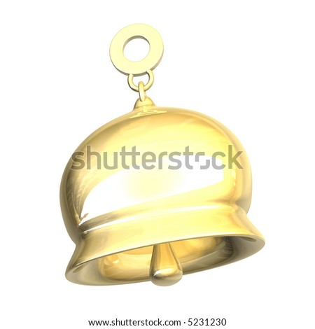 golden bell (3D) - stock photo