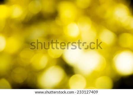 Golden blurred lights - bokeh