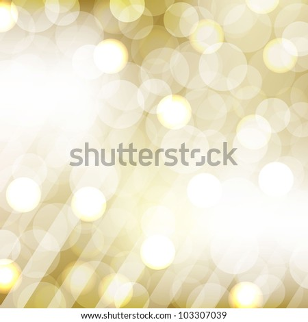 Golden Bokeh With Blurred Background - stock photo