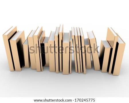 golden books - stock photo