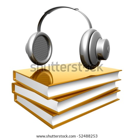 Golden books about composing music icon illustration - stock photo