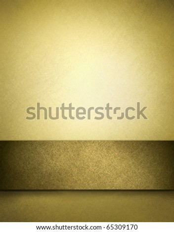 golden brown parchment background with fine texture and soft lighted highlight for graphic art display and darkened stripe for room to add your own text - stock photo