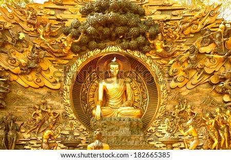 Golden Buddha Image  - stock photo