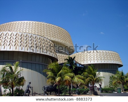Golden building architecture - Rice Paddy seed design