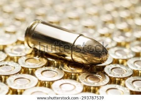 Golden bullets - stock photo