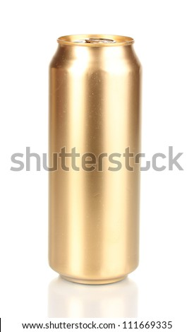 golden can isolated on white