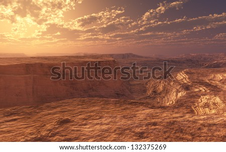 Golden Canyon - stock photo
