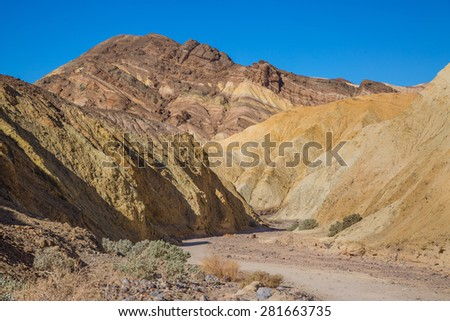 Golden Canyon in Death Valley National Park, California - stock photo