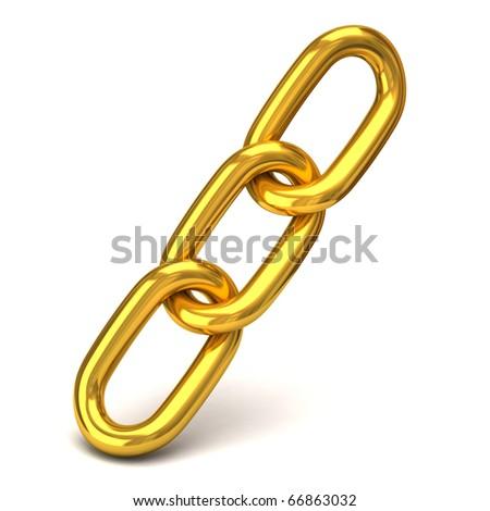 Golden Chain - stock photo