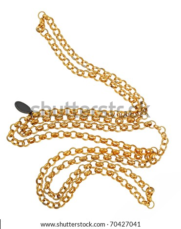 golden chain - stock photo