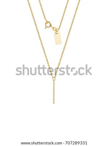 golden chain necklace template on white stock photo royalty free