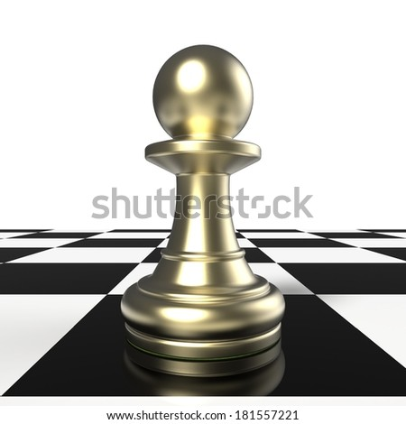 golden chess pawn