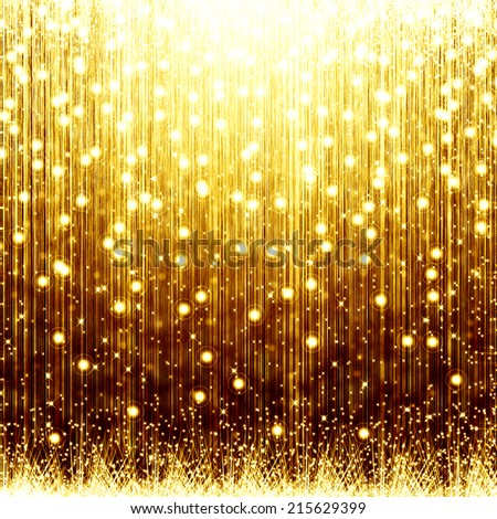 golden christmas background with star