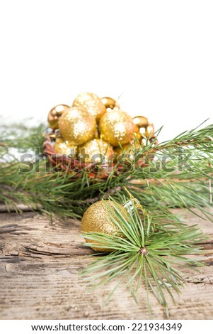 Golden Christmas composition