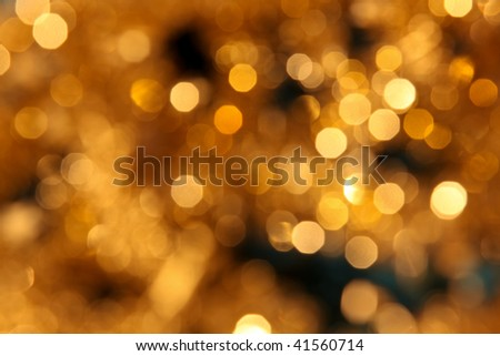 golden christmas lights background xxl - stock photo