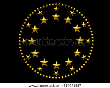 Golden Circle Stars Dots Framing Center Stock Illustration 514091587 ...
