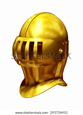 golden close helm - stock photo