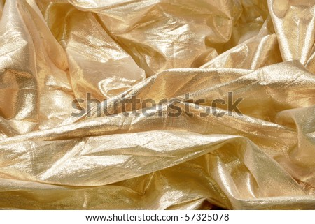 Golden cloth - stock photo