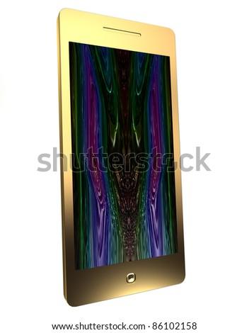 Golden communicator - stock photo
