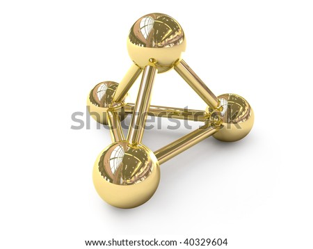 Golden connection symbol - stock photo