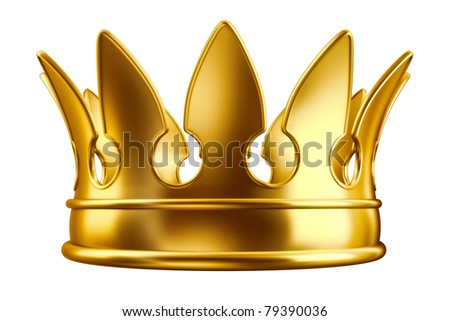 Golden crown - stock photo
