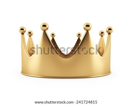 Golden Crown high resolution - stock photo