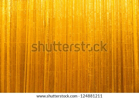 Golden curtain in party room - stock photo