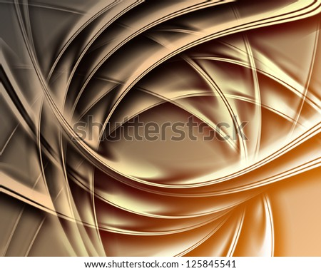 Golden dark background ,Elegant abstract design - stock photo