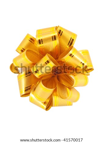 Shutterstocklvvgift bow golden decorative gift ribbon bow isolated on white negle Image collections