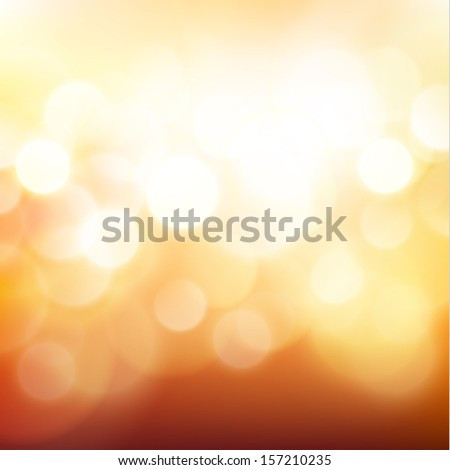 Golden defocused lights background - raster version - stock photo