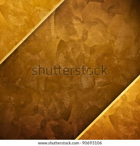 golden design background - stock photo