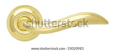 Golden Door handle Gloss - stock photo