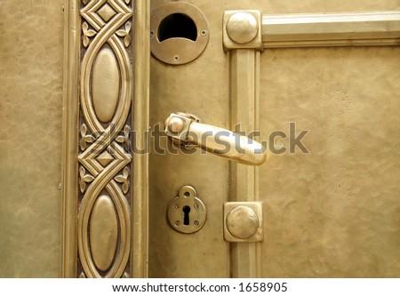 Golden doors - stock photo