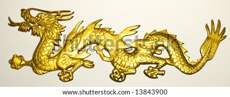 Golden Dragon in Isolation