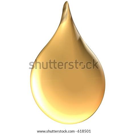 Golden drop - stock photo
