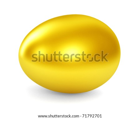 Golden Egg - stock photo