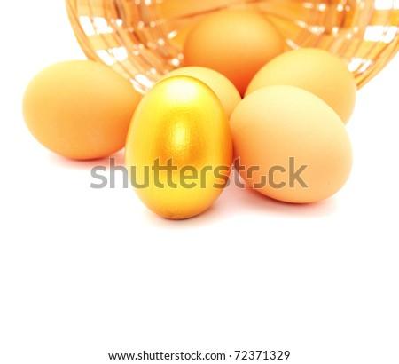 Golden egg. - stock photo