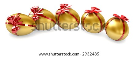 Golden Eggs - stock photo