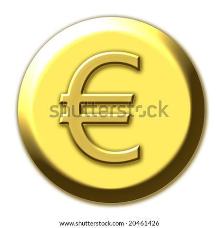 Golden euro symbol - stock photo
