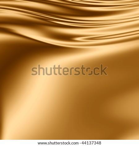 Golden fabric grunge - stock photo