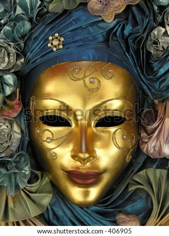 Golden Face Mask - stock photo