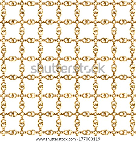 golden fence on white background