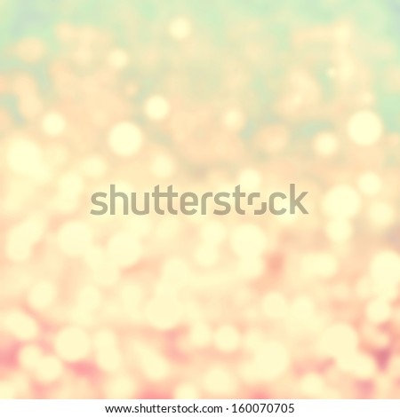 Golden Festive Christmas background. Abstract twinkled bright background with bokeh defocused blur  lights - stock photo